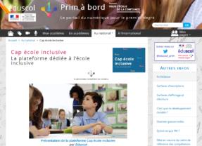 Cap école inclusive, LA plateforme utile à tous!