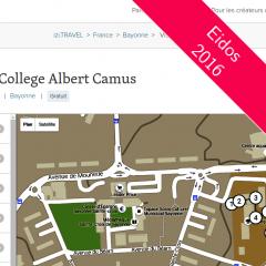 Un audio-guide pour le collège Camus
