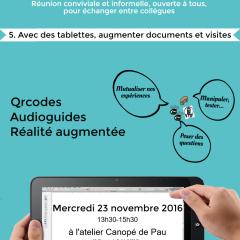 5ème Eidos café : avec des tablettes, augmenter documents et visites